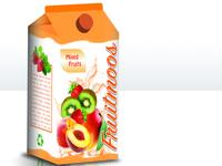 3D Model of a juice cardboard box