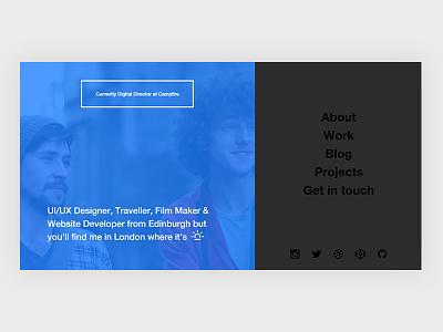 Personal Site Ideas portfolio website ui design web design