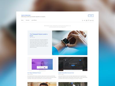 Blog WIP Version One portfolio blog website ui design web design