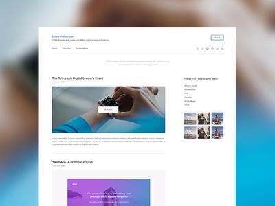 Blog WIP Version Two portfolio blog website ui design web design