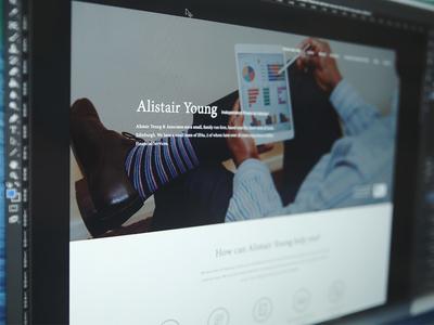Client WIP finance corporate accountant website ui design web design