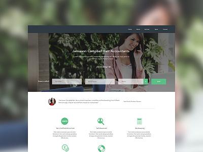 Accountact WIP finance corporate accountant website ui design web design