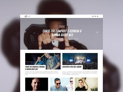 Music Blog WIP wordpress culture music blog music blog website ui design web design