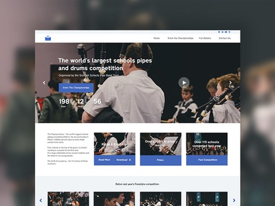 The Championships Redesign event charity website ui design web design