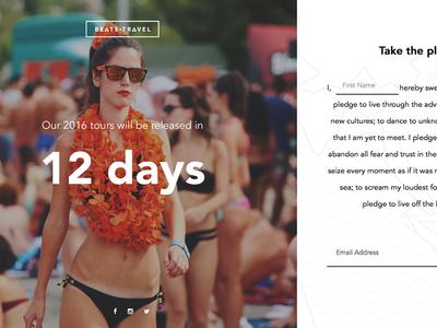Beats Travel Splash Page splash page coming soon web design ui design travel