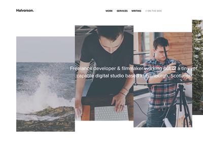 Portfolio Redesign minimal portfolio ui design website