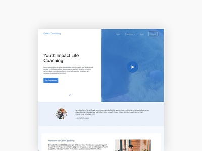 CANI Coaching - Homepage education wordpress ui design website design website