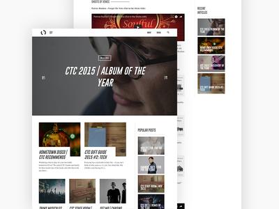 Chase The Compass blog music website design ui design website