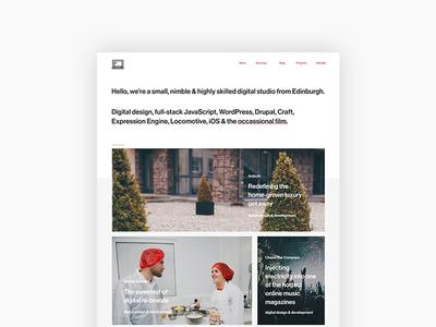 Personal Portfolio developer agency website ui design web design portfolio