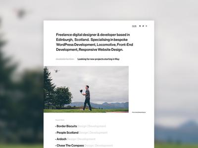 Personal Landing Page landing page minimal portfolio ui design website