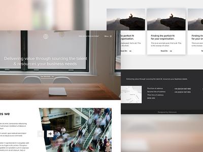 Client WIP recruitment corporate ui design website