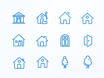 Line Icons icons line icons home tree ios icons ios door house 24px 48px