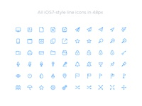 iOS Inspired Line Icons for iOS 7 and iOS 8