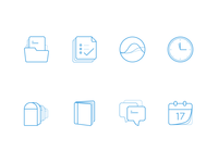 Blend line Icons