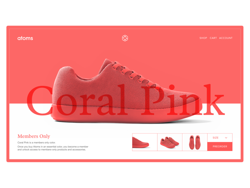 Atoms Model 000 Coral Pink Preorder