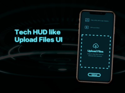 "Tech HUD like ""Upload"" DailyUI 031"