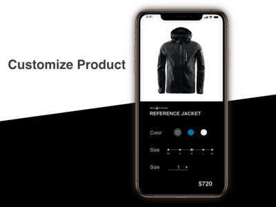 """""""Customize Product"""" Daily UI 033"""