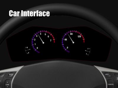 """Car Interface"" DailyUI 034"