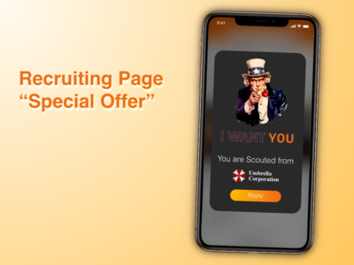 """Recruiting Page """"Special Offer"""" Daily UI 036"""