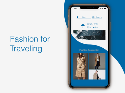 """Fashion for Traveling """"Weather"""" DailyUI 037"""