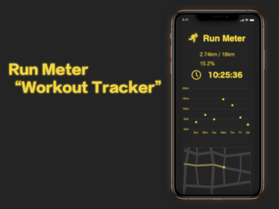 "Run Meter ""Workout Tracker"" DailyUI 041"