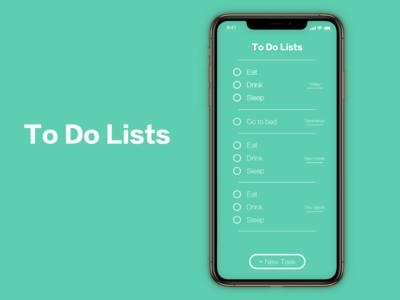 """To Do List"" DailyUI 042"