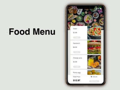 """""""Food Menu"""" DailyUI 043"""