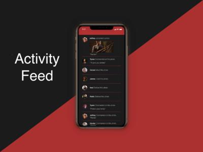 """""""Activity Feed"""" DailyUI 047"""