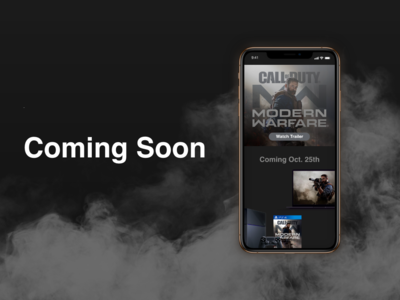 """Coming Soon"" DailyUI 048"
