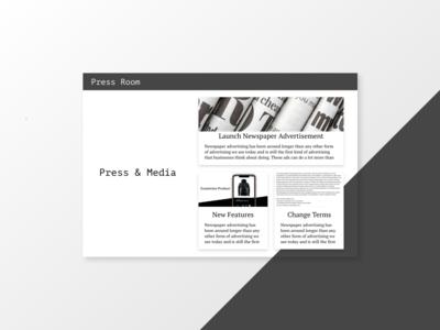 """""""Press Page"""" DailyUI 051"""