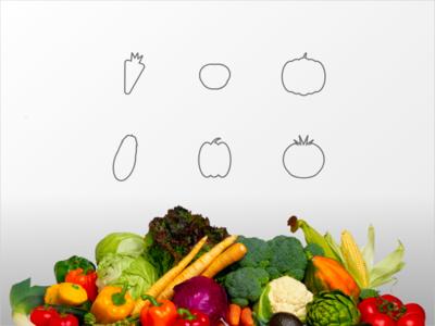 """Vegetables """"Icon set"""" DailyUI 055"""