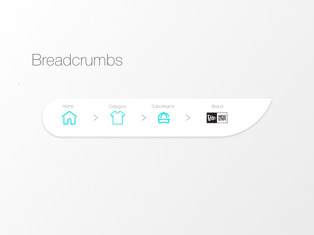 """Breadcrumbs"" DailyUI 056 dailyui breadcrumbs"