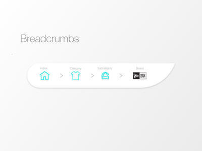"""Breadcrumbs"" DailyUI 056"