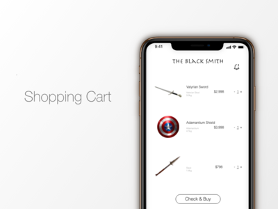 """Shopping Cart"" DailyUI 058"