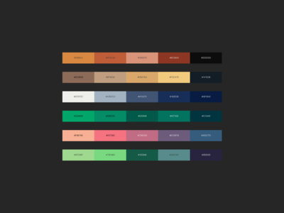 """Color Pallet"" DailyUI 060"