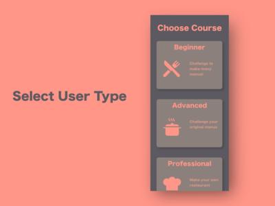 """""""Select User Type"""" DailyUI 064"""