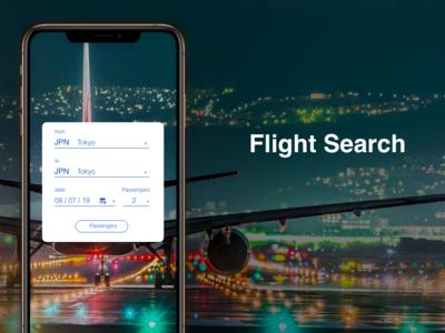 """Flight Search"" DailyUI 068"