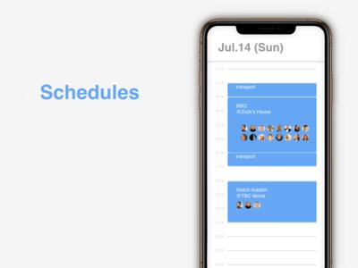 """Schedules"" DailyUI 071"