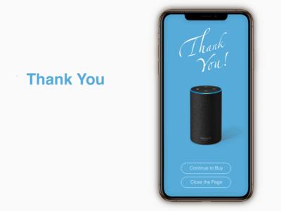 """Thank You"" DailyUI 077"
