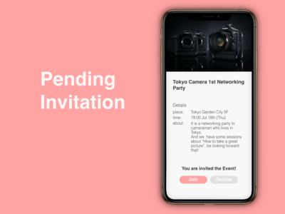 """Pending Invitation"" DailyUI 078"