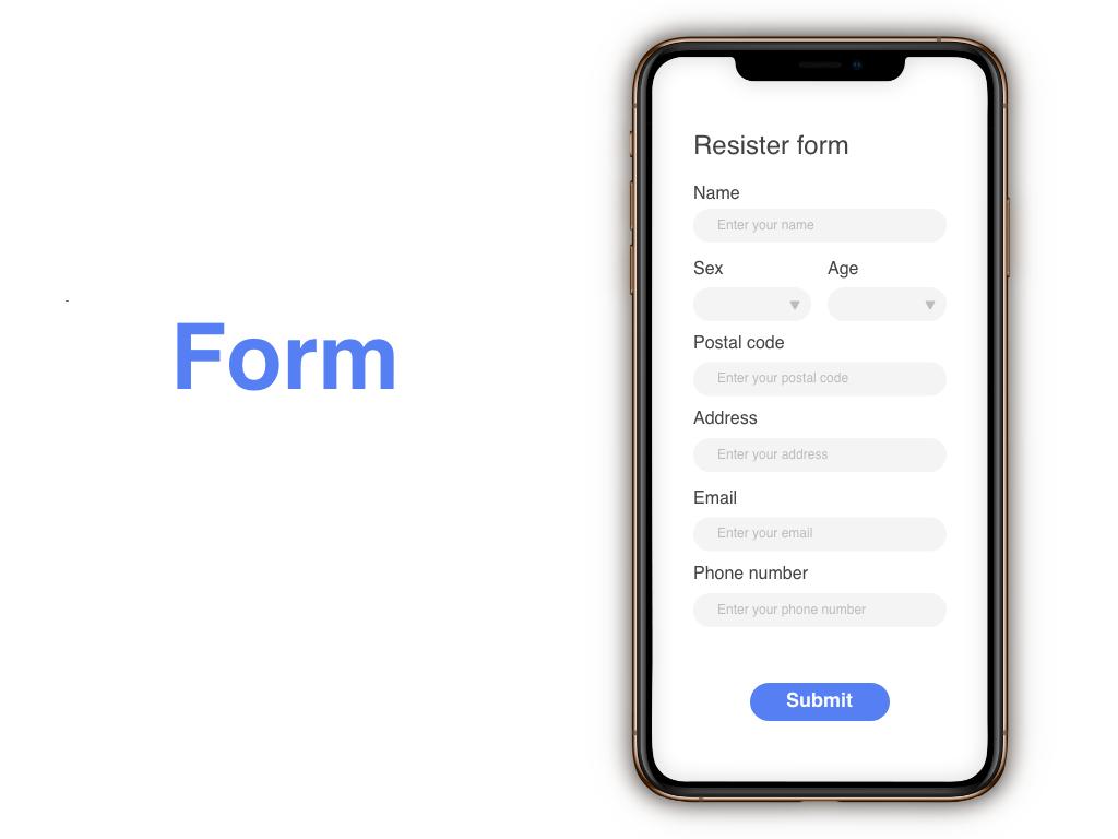 """""""Form"""" DailyUI 082 dailyui form"""