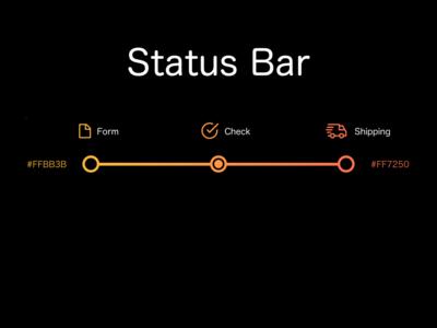 """Status Bar"" DailyUI 086"