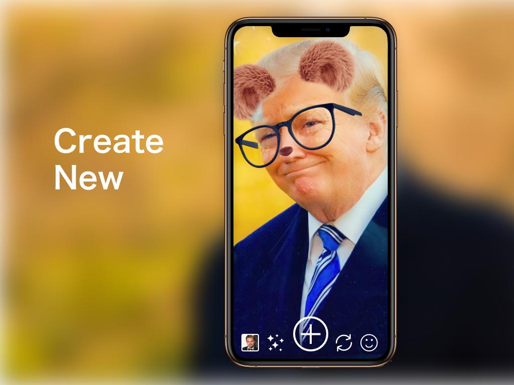 """Create New"" DailyUI 090 camera dailyui faceapp face create new create"