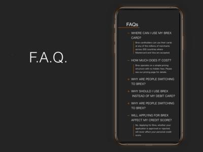 """""""F.A.Q"""" DailyUI 092"""