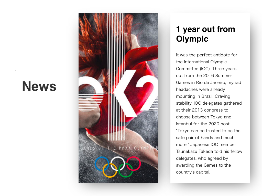 """News"" DailyUI 094 olympic 094 dailyui news"