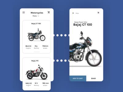 Bajaj Mobile App Design Concept
