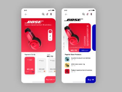 Day 12  Bose headphones mobile design concept