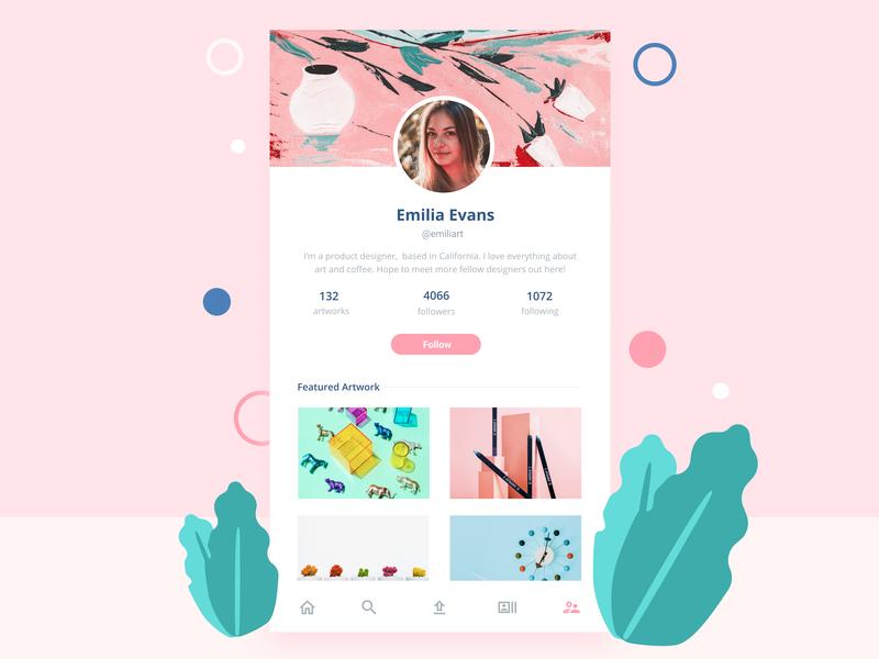Daily UI #6: User Profile uiuxdesign daily ui ui design design profile user profile dailyui 006 ui