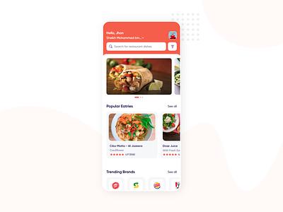 Food App layoutdesign modern delivery shop grey app cafe food app design orange restaurant shipt peapod postmates on-demand ios iphone app design amazonfresh trending uxdesign uidesign