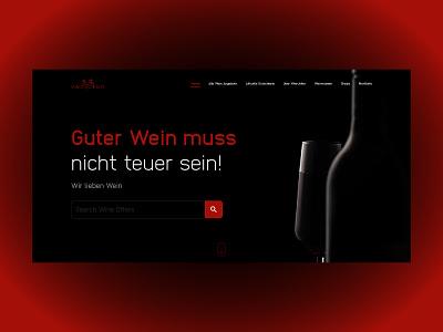 Wine Joker ux webdesign website typography web ui design wine label wine wine shop